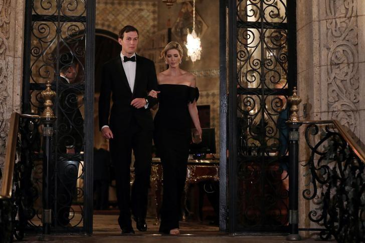 Ivanka Trump and Senior advisor and son-in-law of U.S. President Donald Trump, Jared Kushner, leave Mar-a-Lago Club in Palm Beach, Florida, U.S., February 11, 2017. REUTERS/Carlos Barria