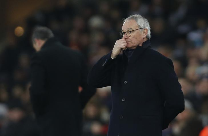 Football Soccer Britain - Swansea City v Leicester City - Premier League - Liberty Stadium - 12/2/17 Leicester City manager Claudio Ranieri looks dejected as Swansea City manager Paul Clement looks on Action Images via Reuters / Paul Childs