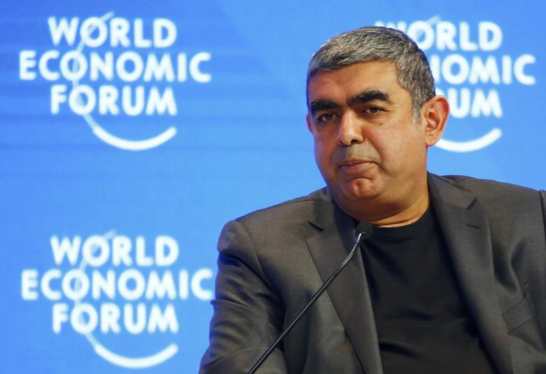 Vishal Sikka, CEO of Infosys attends the annual meeting of the World Economic Forum (WEF) in Davos, Switzerland, January 17, 2017. REUTERS/Ruben Sprich