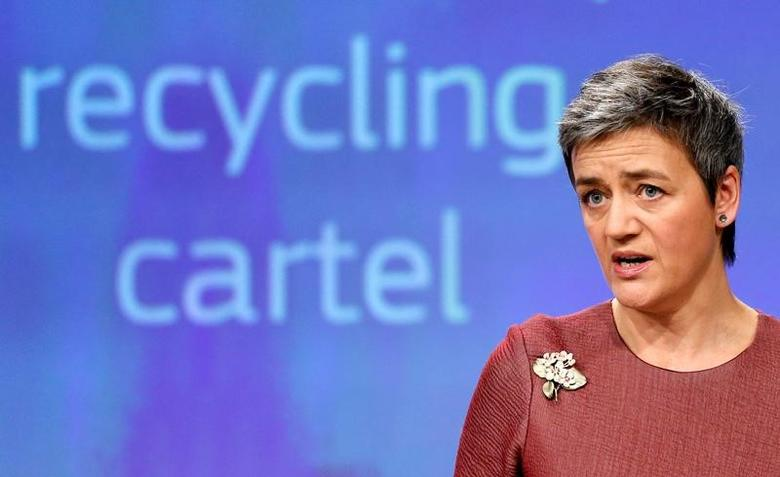 European Competition Commissioner Margrethe Vestager holds a news conference at the EU Commission's headquarters in Brussels, Belgium February 8, 2017.   REUTERS/Francois Lenoir