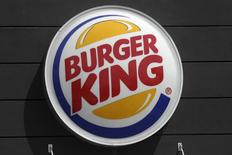 A Burger King restaurant logo is pictured on a building in North Miami, Florida March 19, 2016. REUTERS/Carlo Allegri