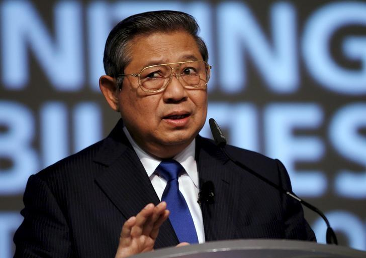 Former Indonesian president Susilo Bambang Yudhoyono delivers a speech during the Development Bank of Singapore (DBS) Asian Insights Conference in Singapore July 10, 2015. REUTERS/Edgar Su /Files