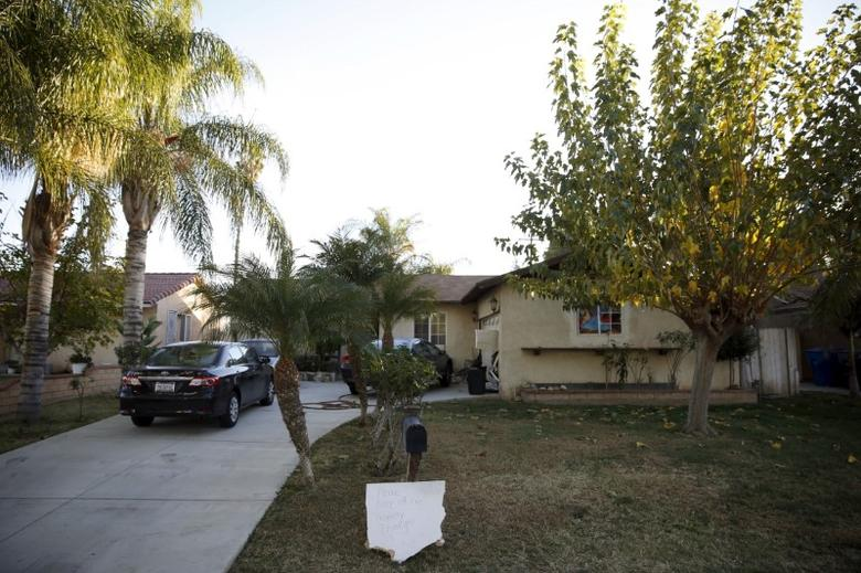 The home of Enrique Marquez stands on Tomlinson Avenue in Riverside, California on December 18, 2015. Marquez is accused of supplying assault rifles to the couple who massacred 14 people in San Bernardino, California. REUTERS/Patrick T. Fallon