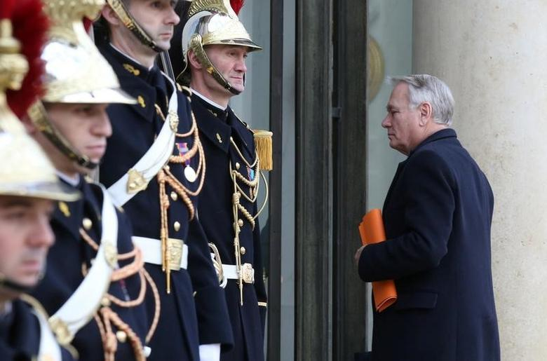 French Foreign Minister Jean-Marc Ayrault arrives at the Elysee Palace in Paris, France, February 7, 2017. REUTERS/Jacky Naegelen
