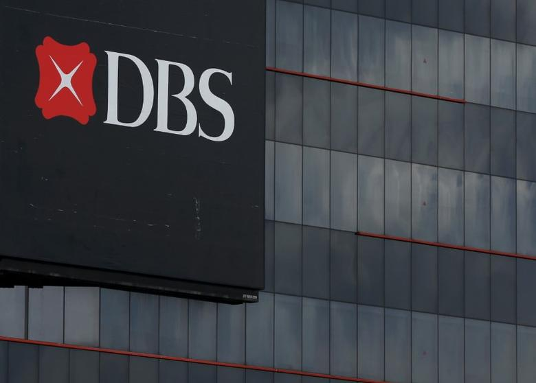 A logo of DBS is pictured outside an office in Singapore January 5, 2016.  REUTERS/Edgar Su/File Photo