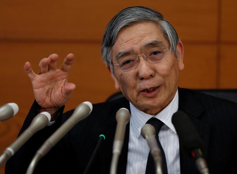 Bank of Japan (BOJ) Governor Haruhiko Kuroda attends a news conference at the BOJ headquarters in Tokyo, Japan January 31, 2017.   REUTERS/Toru Hanai
