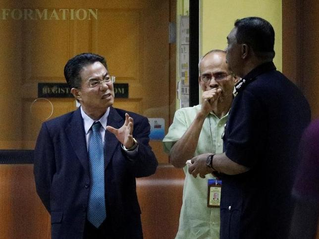 2月16日、北朝鮮の金正恩朝鮮労働党委員長の異母兄、金正男氏がマレーシアで殺害された事件に関連し、マレーシアのザヒド副首相は同日、全ての手続きが終了した後、金正男氏の遺体を北朝鮮の大使館を通じて近親者に引き渡す可能性があると語った。写真はクアラルンプールの病院で15日撮影(2017年 ロイター/Edgar Su)