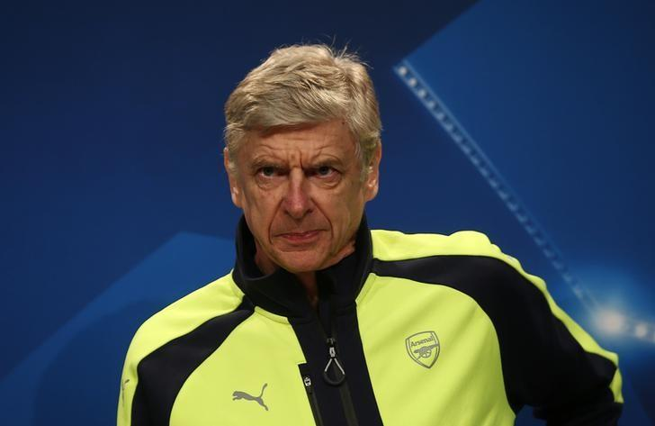 Football Soccer - Arsenal Press Conference - Allianz Arena - 14/2/17 Arsenal manager Arsene Wenger during the press conference Reuters / Michael Dalder Livepic  - RTSYNIM