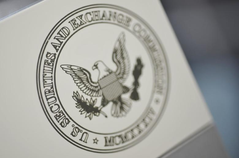FILE PHOTO - The U.S. Securities and Exchange Commission logo adorns an office door at the SEC headquarters in Washington, June 24, 2011. REUTERS/Jonathan Ernst