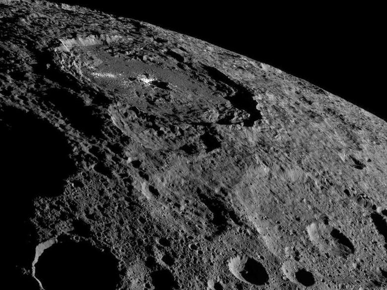 NASA's Dawn spacecraft image of the limb of dwarf planet Ceres shows a section of the northern hemisphere in this image on October 17, 2016. Courtesy NASA/JPL-Caltech/UCLA/MPS/DLR/IDA/Handout via REUTERS