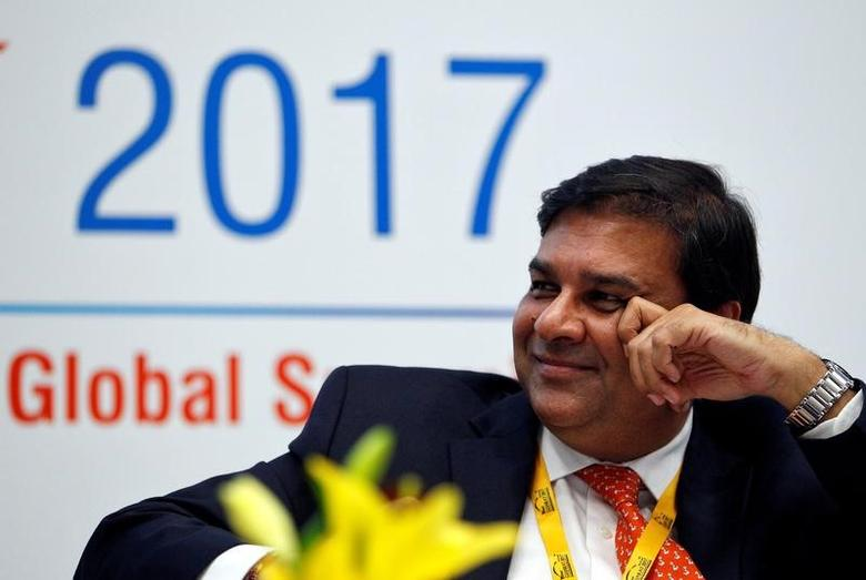 The Reserve Bank of India (RBI) Governor Urjit Patel smiles while attending a seminar during the Vibrant Gujarat investor summit in Gandhinagar, India, January 11, 2017. REUTERS/Amit Dave