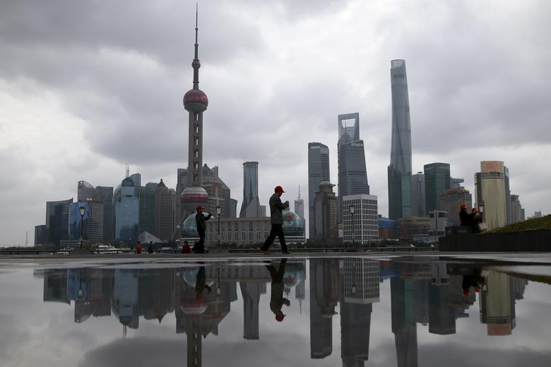 2016年3月资料图,上海浦东陆家嘴金融区。REUTERS/Aly Song