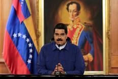 """El Gobierno español dijo el viernes que había convocado al embajador de Venezuela en España para mostrarle su malestar por las palabras del presidente Nicolás Maduro, que la víspera llamó """"bandido"""" y """"protector de delincuentes y asesinos"""" al jefe del Ejecutivo, Mariano Rajoy. En la foto, el presidente venezolano el pasado 9 de febrero de 2017. REUTERS"""