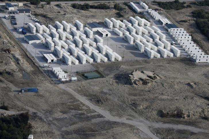 An aerial view shows the site known as the ''Jungle'' migrant camp after its evacuation and dismantlement in Calais, France, November 3, 2016.  REUTERS/Pascal Rossignol/File Photo