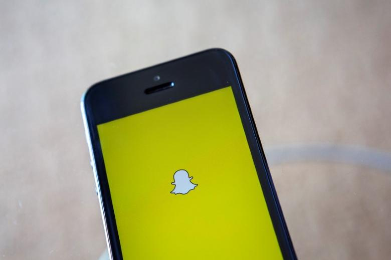 A portrait of the Snapchat logo in Ventura, California December 21, 2013. REUTERS/Eric Thayer/File Photo