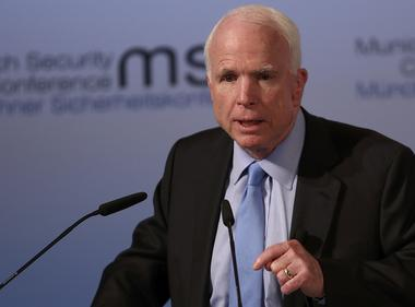 U.S. Senator McCain speaks at the opening of the 53rd Munich Security...