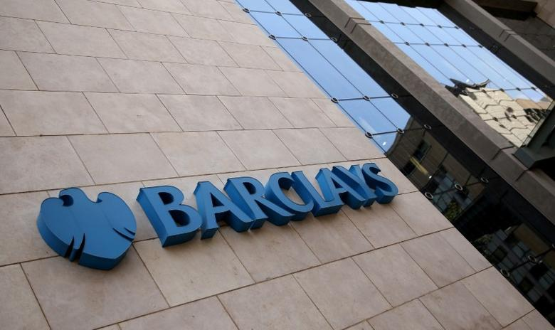 FILE PHOTO -  A Barclays logo is pictured outside the Barclays towers in Johannesburg, South Africa, December 16, 2015. REUTERS/Siphiwe Sibeko/File Photo