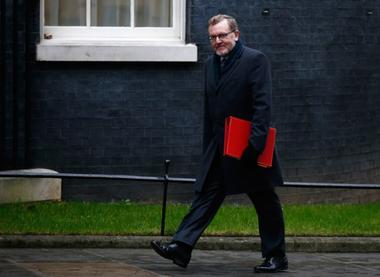 Britain's Secretary of State for Scotland David Mundell arrives for a...