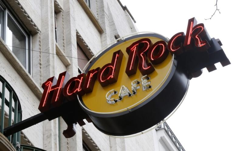 View of the logo of the Hard Rock cafe in Paris, France, March 3, 2016.   REUTERS/Jacky Naegelen