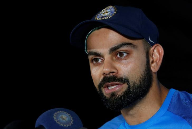 Cricket - India team news conference - Maharashtra Cricket Association Stadium, Pune, India - 22/02/17. India's captain Virat Kohli speaks during a news conference. REUTERS/Danish Siddiqui