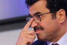 El ministro de Energía de Qatar, Mohammed Al-Sada, durante una entrevista en el encuentro de la OPEP en Viena, Austria. 30 de noviembre 2016. El ministro de Energía de Qatar, Mohammed Al-Sada, dijo el miércoles que los precios del crudo deberían superar los 50 dólares el barril para fomentar la inversión del sector petrolero. REUTERS/Heinz-Peter Bader - RTSU1PE