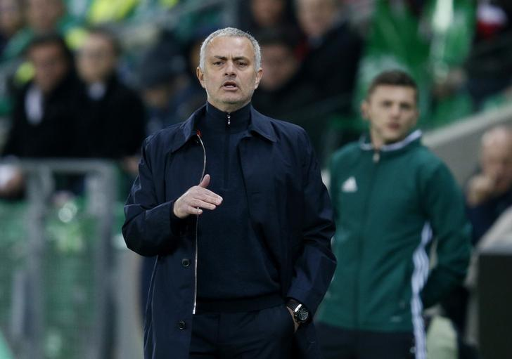 Soccer Football - Saint-Etienne v Manchester United - UEFA Europa League Round of 32 Second Leg - Stade Geoffroy-Guichard, Saint-Etienne, France - 22/2/17 Manchester United manager Jose Mourinho  Reuters / Robert Pratta Livepic