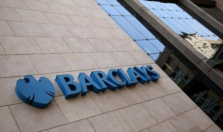 A Barclays logo is pictured outside the Barclays towers in Johannesburg, South Africa, December 16, 2015. REUTERS/Siphiwe Sibeko/Files