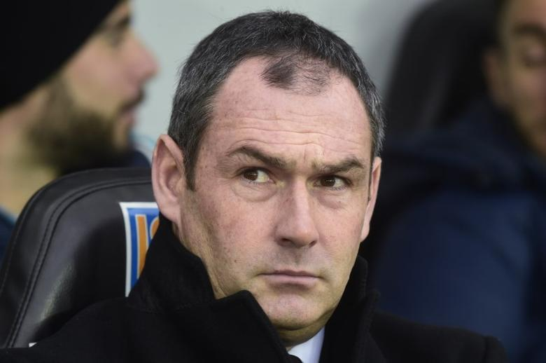 Football Soccer Britain - Swansea City v Leicester City - Premier League - Liberty Stadium - 12/2/17 Swansea City manager Paul Clement  Reuters / Rebecca Naden Livepic/Files