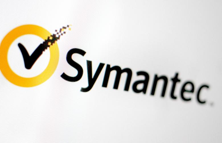 FILE PHOTO -  The Symantec logo is pictured on a screen June 13, 2016.   REUTERS/Thomas White/File Photo