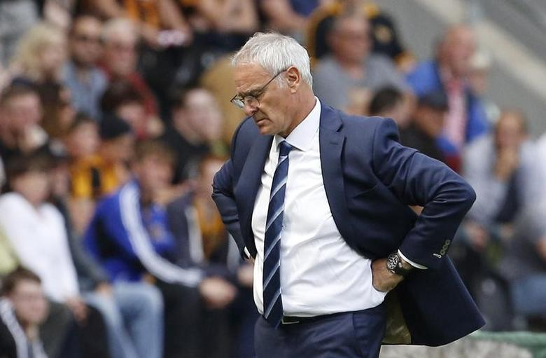 Britain Football Soccer - Hull City v Leicester City - Premier League - The Kingston Communications Stadium - 13/8/16 Leicester City manager Claudio Ranieri  Action Images via Reuters / Craig Brough Livepic