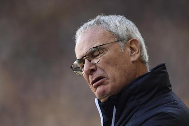 2月23日、サッカーのイングランド・プレミアリーグ、岡崎慎司の所属するレスターは、成績不振によりクラウディオ・ラニエリ監督を解任したと発表した。18日撮影(2017年 ロイター)