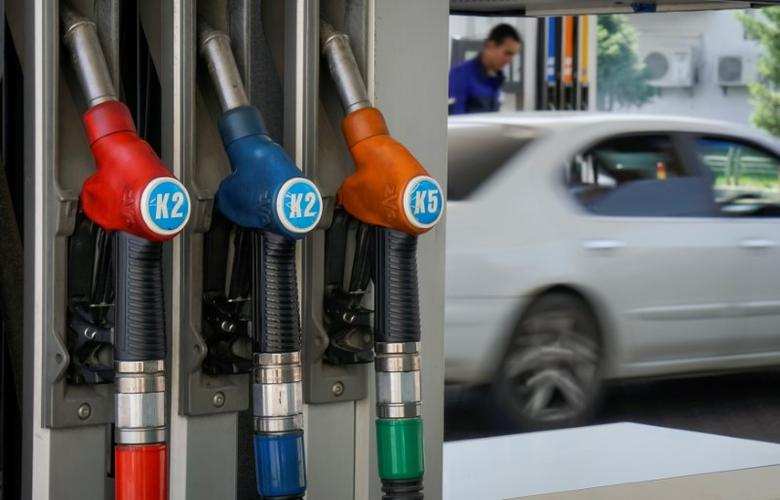 Fuel pump nozzles are pictured at a Helios petrol station in Almaty, Kazakhstan, June 10, 2016.  REUTERS/Shamil Zhumatov
