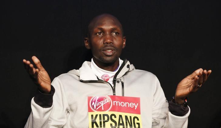 Athletics - 2016 Virgin Money London Marathon Preview - London - 20/4/16Kenya's Wilson Kipsang during a press conference ahead of the 2016 Virgin Money London MarathonAction Images via Reuters / Peter CziborraLivepic