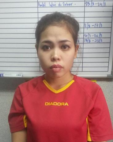 Indonesian Siti Aisyah is seen in this undated handout released by the Royal Malaysia Police to Reuters on February 19, 2017. Siti Aisyah was arrested in connection with the murder of Kim Jong Nam. Royal Malaysia Police/Handout via Reuters.