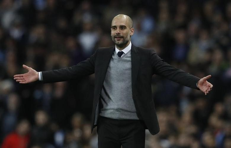 Britain Football Soccer - Manchester City v AS Monaco - UEFA Champions League Round of 16 First Leg - Etihad Stadium, Manchester, England - 21/2/17 Manchester City manager Pep Guardiola  Reuters / Phil Noble Livepic
