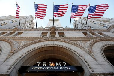 FILE PHOTO --  Flags fly above the entrance to the new Trump International...