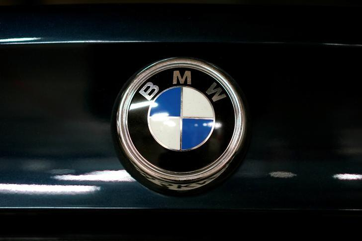 A view shows the logo of BMW on a car in Moscow, Russia, July 6, 2016. REUTERS/Maxim Zmeyev/Files