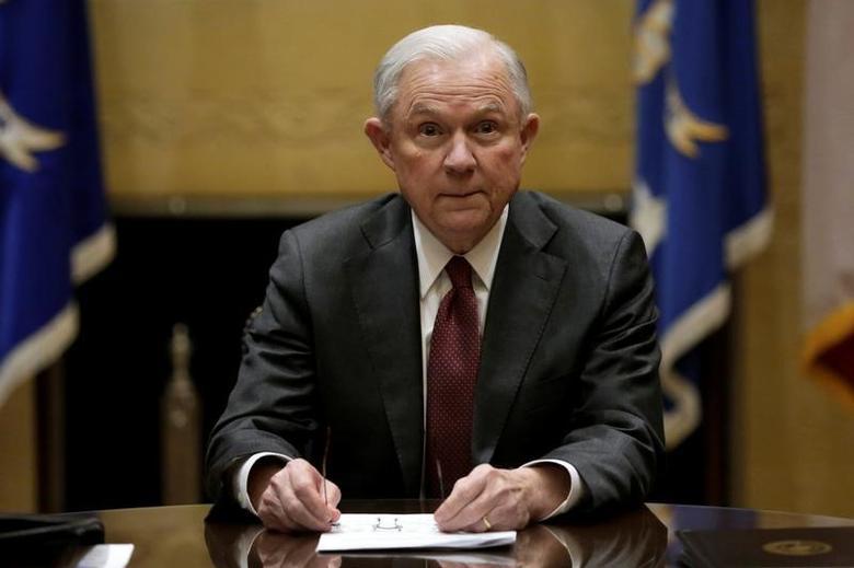 U.S. Attorney General Jeff Sessions   in Washington U.S., February 9, 2017. REUTERS/Yuri Gripas