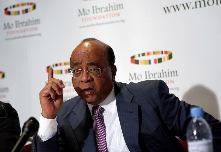 Sudanese-born telecommunications entrepreneur Mo Ibrahim addresses participants at the  Ibrahim Index of African Governance in Addis Ababa,  file.   REUTERS/Irada Humbatova