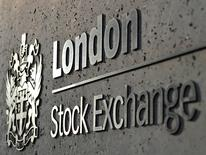 FILE PHOTO - The London Stock Exchange is seen in the City of London, Britain, April 11, 2011.  REUTERS/Toby Melville/File Photo