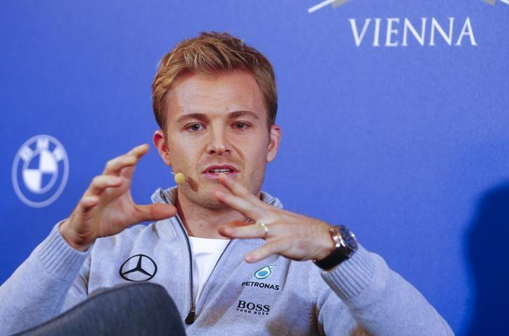 Mercedes' Formula One World Champion Nico Rosberg of Germany speaks during a news conference as he announces his retirement in Vienna, Austria December 2, 2016.   REUTERS/Leonhard Foeger