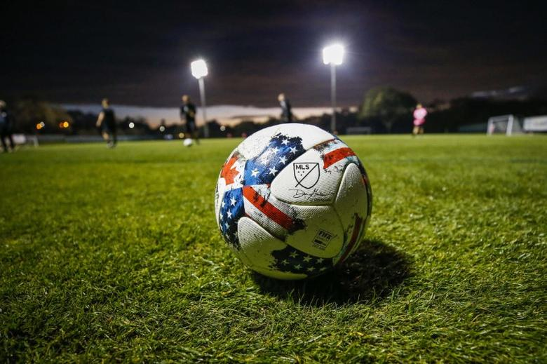 Feb 22, 2017; St. Petersburg, FL, USA; A major league Soccer ball sits on the field prior to a game between the Philadelphia Union and the Montreal Impact at Joe DiMaggio Sports Complex. Mandatory Credit: Logan Bowles-USA TODAY Sports