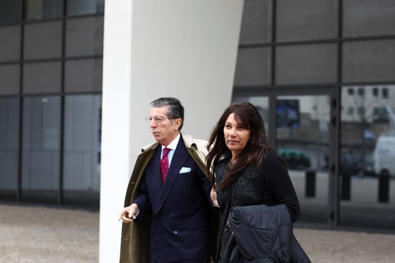 Former CIA agent Sabrina de Sousa with her lawyer Manuel Magalhaes Silva leaving Judiciary Police headquarters in Lisbon, Portugal, March 1, 2017. REUTERS/Pedro Nunes