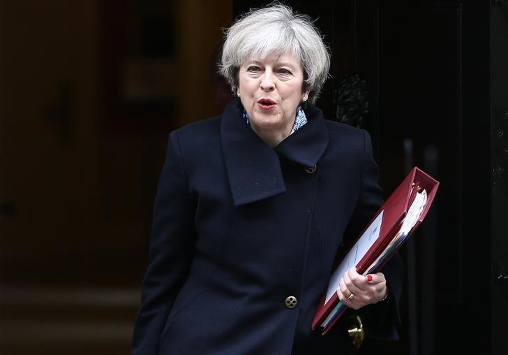 Britain's Prime Minister Theresa May leaves Downing Street in London, Britain March 1, 2017. REUTERS/Neil Hall
