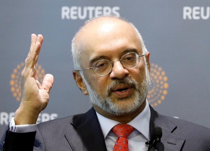 DBS's CEO Piyush Gupta speaks during a Reuters Newsmaker event in Singapore March 2, 2017. REUTERS/Edgar Su