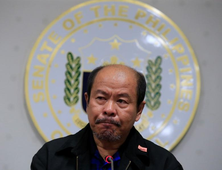 Arturo Lascanas, a retired Davao policeman, speaks during a news conference at the Senate headquarters in metro Manila, Philippines February 20, 2017. REUTERS/Romeo Ranoco/File Photo