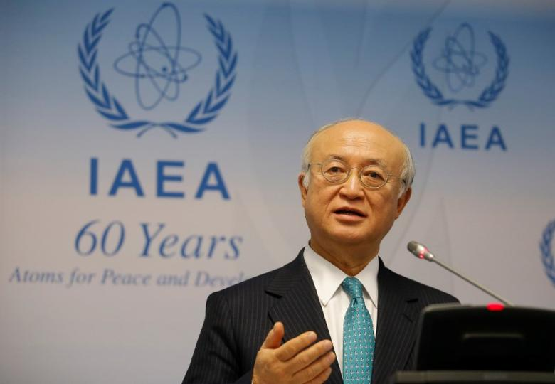 International Atomic Energy Agency (IAEA) Director General Yukiya Amano addresses a news conference after a board of governors meeting at the IAEA headquarters in Vienna, Austria March 6, 2017. REUTERS/Heinz-Peter Bader