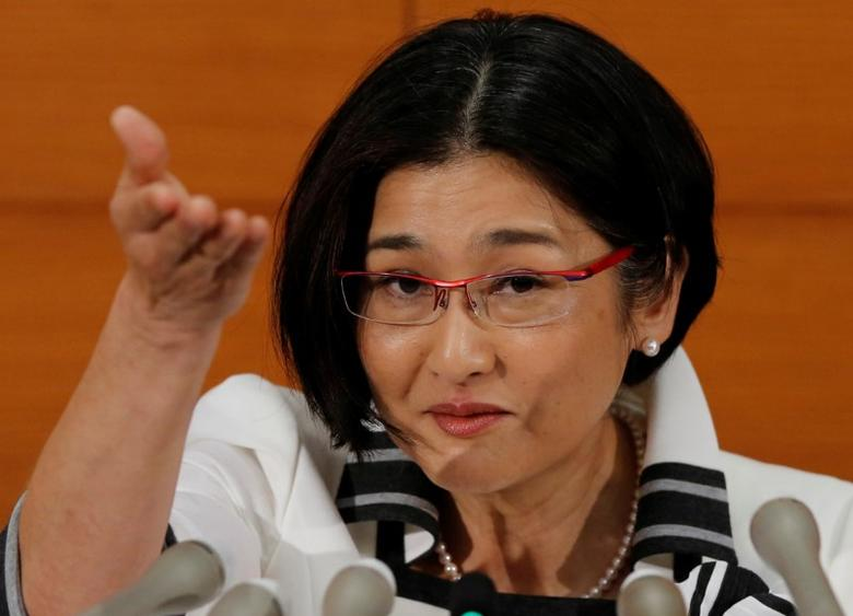 Bank of Japan's (BOJ) new board member Takako Masai attends a news conference at the BOJ headquarters in Tokyo, Japan, June 30, 2016.   REUTERS/Toru Hanai