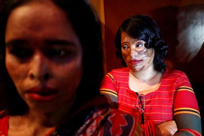 Acid attack survivors walk the fashion runway