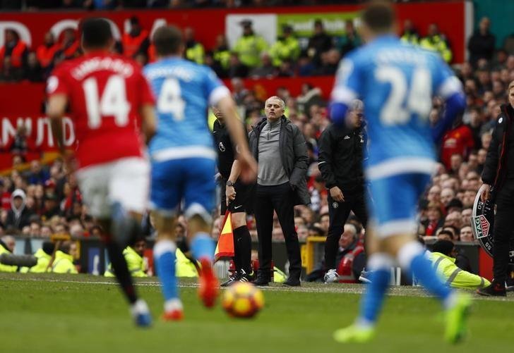 Britain Soccer Football - Manchester United v AFC Bournemouth - Premier League - Old Trafford - 4/3/17 Manchester United manager Jose Mourinho Action Images via Reuters / Jason Cairnduff/ Livepic/ Files